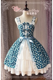 Green Magic Tea Party Floral Printing Sweet Lolita JSK Dress