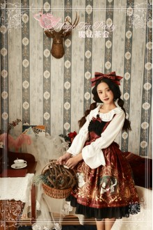 Wine Magic Tea Party Goddess Original Printing Chiffon Sweet Lolita JSK Dress