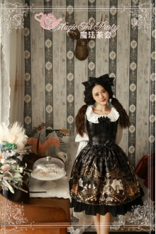 Black Magic Tea Party Goddess Original Printing Chiffon Sweet Lolita JSK Dress
