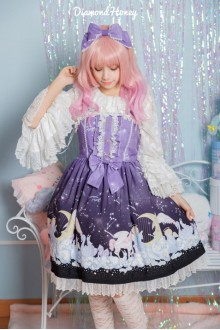 Purple Gradient Dreamy Little Angel On The Cloud Sweet Lolita Dress