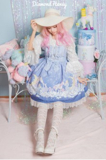 Blue Gradient Dreamy Little Angel On The Cloud Sweet Lolita Dress