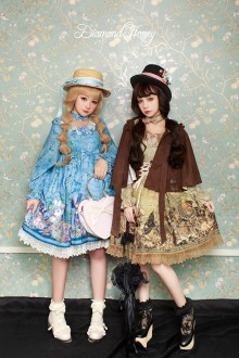 Fairy Tale Style Diamond Honey Vintage Gorgeous Pirate Alice Sweet Lolita OP Dress 4 Colors