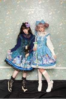 Fairy Tale Style Diamond Honey Vintage Gorgeous Pirate Alice Sweet Lolita JSK Dress 4 Colors