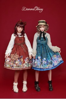 Fairy Tale Style Diamond Honey Vintage Gorgeous Pirate Alice Sweet Lolita JSK Dress 4 Colors Version 2