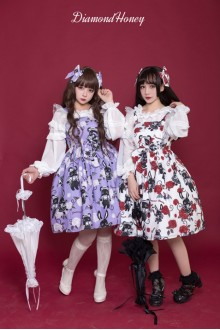 Diamond Honey Playful Girl Rose Devil Doll Sweet Lolita JSK Dress 3 Colors
