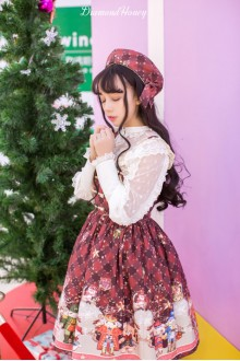 Red Diamond Honey Vintage Fairy Tale Nutcracker Toys Sweet Lolita JSK Dress