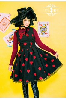 Miss Point Queen of Hearts Vintage Fairy Tale Style Long Sleeves Sweet Lolita JSK
