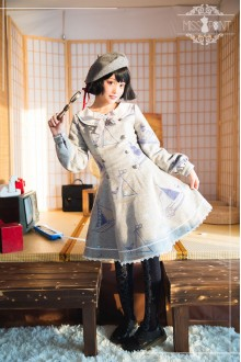 Miss Point Vintage Navy Style Long Sleeves Sweet Lolita Dress
