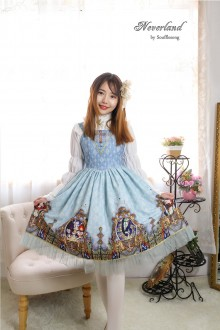 Blue Neverland Virgin Mary Cross Sweet Lolita JSK Dress