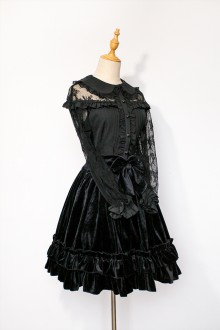 Black Autumn and Winter Sweet Lolita SK Skirt 2 Version