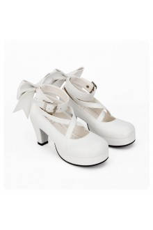 High-heeled PU Bow Knot Princess Lolita Shoes 2 Colors
