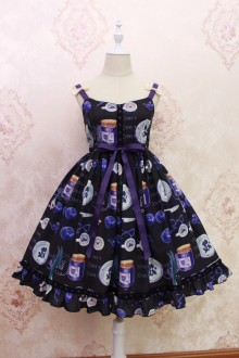 Alice Girl Blueberry Onion Ruffles Bow Sweet Lolita JSK Dress 5 Colors