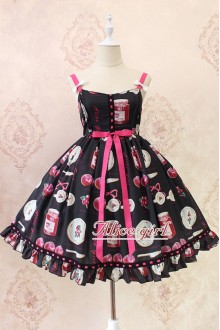 Alice Girl Blueberry Ruffles Bow Sweet Lolita JSK Dress 5 Colors