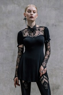Dark Vintage Lace Punk Open Back Gothic Lolita Dress