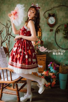 Magic Tea Party Original Printing Sunny Day And Food Lolita JSK 3 Colors Version 2