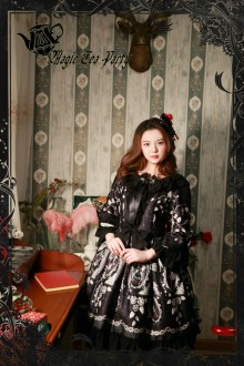 Magic Tea Party Black Seven Sins Classic Lolita OP Dress