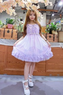 Dreamlike Printing Sleeveless Chiffon Sweet Lolita JSK Dress