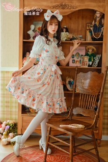 Sweet Cat And Orange Sauce Original Printing Magic Tea Party Lolita JSK Version 2