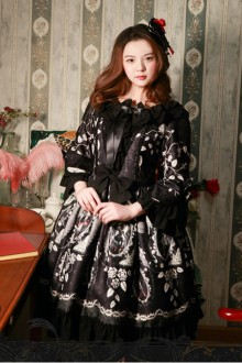 Magic Tea Party Seven Sins Original Print Ji Sleeve Dress OP Spot Lolita