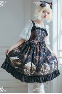 Month's Altar Original Design Retro Print Sweet Lolita JSK Dress