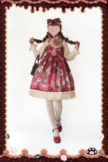 Infanta Candy Town Valentine's Day Sweet Lolita JSK Dress