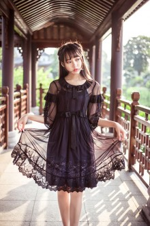 Original Hanfu Gauze Sweet Lolita Dress Two-Piece