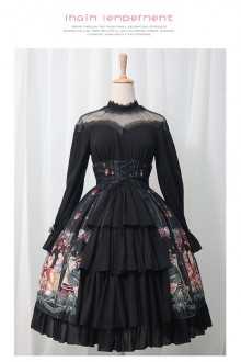 Original Print Japanese Sweet Lolita OP Dress 2 Colors