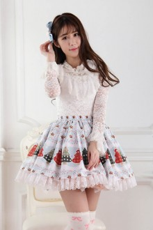 "Original ""Christmas Star"" Sweet Lolita Skirt SK"