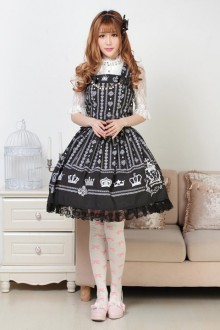 Black Crown Sweet Lolita Dress