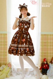 Magic Tea Party Original Print Sweet Lolita Dress 3 Colors