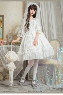 Original New Retro Gorgeous Flower Wedding Sweet Lolita Dress