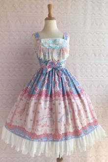 "Original Design ""Rose Trojan"" Sling Sweet Lolita Dress 3 Colors"
