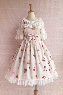 "Original New ""Berry Sweetheart"" Bow Sling Sweet Lolita Dress 5 Colors"