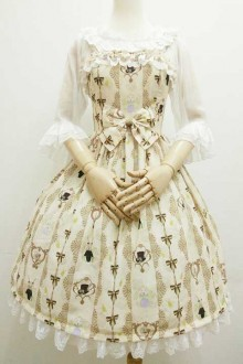 "Original Print ""Lady And Gentleman"" Sweet Lolita JSK Dress 2 Colors"