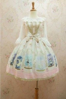 New Original Print * Crystal Rabbit * Chiffon Sweet Lolita JSK Dress 3 Colors