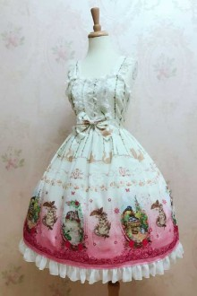 New Original Print * Chunting Cat * Sweet Lolita JSK Dress 2 Colors