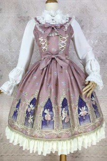 New Original Print * Dream Spirit * Chiffon Sweet Lolita JSK Dress 6 Colors