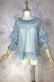 Original Design Chiffon Inside Sweet Lolita Blouse 4 Colors