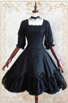 [Strawberry Witch] Original Design Devil rose Elegant Sweet Lolita OP Dress 2 Colors