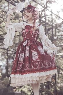 [Infanta] Original Print * Long Hair Princess * Sweet Lolita JSK Dress 3 Colors