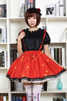 Original Japanese Red Plum Lolita Sweet Skirt SK