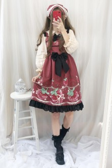 Original Authentic Autumn And Winter Sweet Lolita JSK Dress 2 Colors