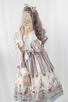 "Original Retro ""Children"" Print Sweet Lolita OP Dress 2 Colors"