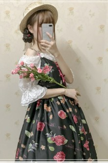 "Original Vintage ""Rose Valley"" Sweet Lolita JSK Dress"