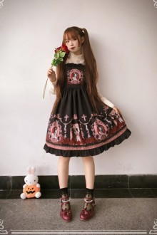 Original Lily Jacquard Gothic Lolita Jsk Dress