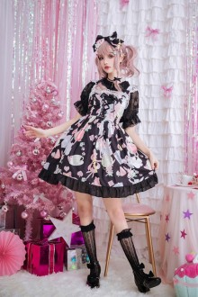 Original Alice Sling Print Sweet Lolita JSK Dress 3 colors