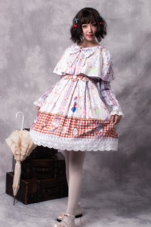 "Original ""Cookie Rabbit"" Retro Sweet Lolita JSK Dress Long Sleeve Short Coat Shawl Three-Piece"