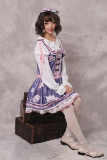 "Original ""Autumn Letter"" Printed Chiffon Sweet Lolita JSK Dress"