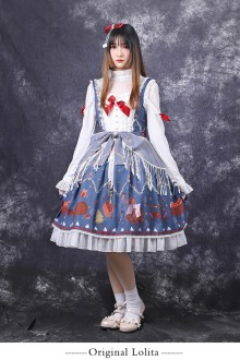 "Original ""Christmas In The Distance"" Print Sweet JSK Dress"