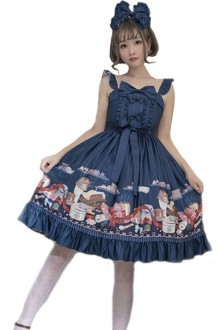 "Magic Tea Party ""Handmade Mother's Hat Shop"" Sweet Lolita Jsk Dress 2 colors"